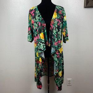 Lularoe Monroe Kimono Floral Print Multicolor